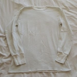 White thermal long sleeve